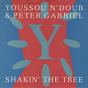 PETER GABRIEL - Shakin' The Tree (w/ Youssou N'dour) CD album cover