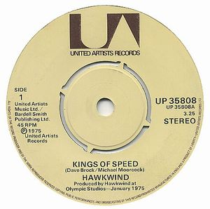 Hawkwind - Kings Of Speed CD (album) cover