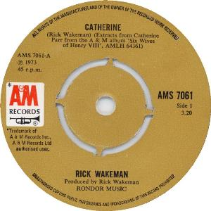 Rick Wakeman - Catherine CD (album) cover