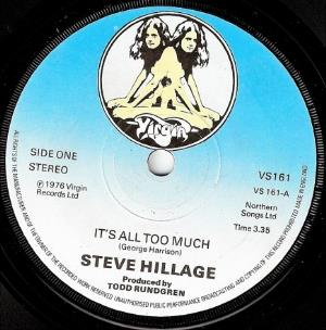 Steve Hillage - It's All Too Much CD (album) cover