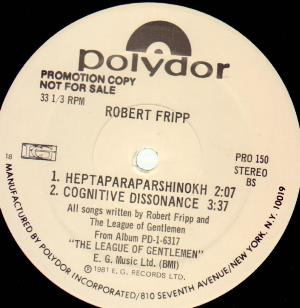 Robert Fripp - The League Of Gentlemen (sampler) CD (album) cover