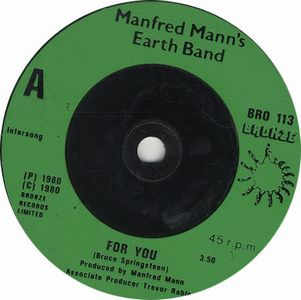 Manfred Mann's Earth Band - For You CD (album) cover