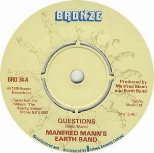 Manfred Mann's Earth Band - Questions CD (album) cover
