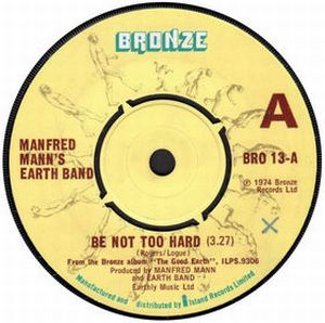 MANFRED MANN'S EARTH BAND - Be Not Too Hard CD album cover