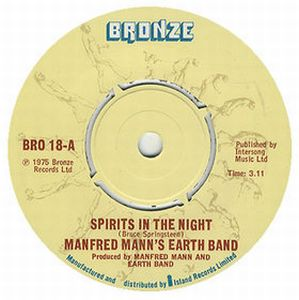 Manfred Mann's Earth Band - Spirits In The Night [version 1] CD (album) cover