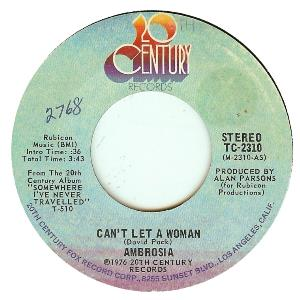 Ambrosia - Can't Let A Woman CD (album) cover