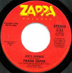 Frank Zappa - Joe's Garage CD (album) cover