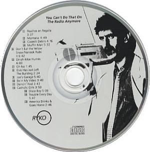 Frank Zappa - You Can't Do That On The Radio Anymore CD (album) cover