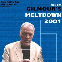 David Gilmour - Gilmour's Meltdown 2001 CD (album) cover