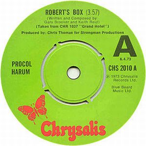 Procol Harum - Robert's Box CD (album) cover