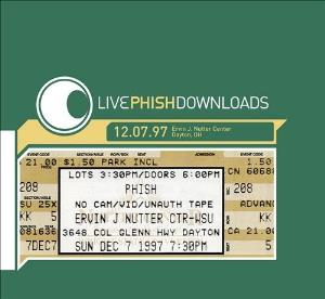 PHISH - 12.07.97 Ervin J. Nutter Center, Dayton, Oh CD album cover