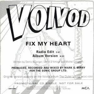 Voivod - Fix My Heart CD (album) cover