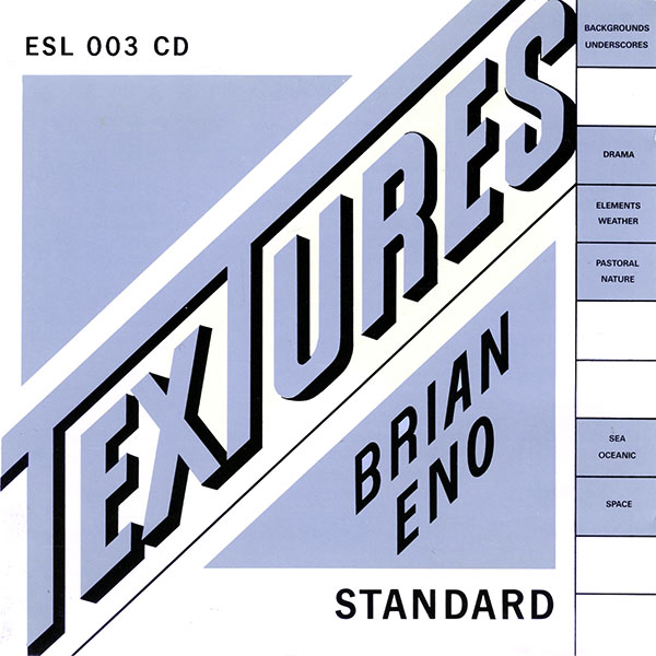 Brian Eno - Textures CD (album) cover