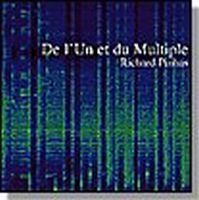 Richard Pinhas - De L'Un Et Du Multiple CD (album) cover