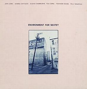 John Zorn - Environment For Sextet (with Andrea Centazzo, Eugene Chadbourne, Tom Cora, Toshinori Kondo, Polly Bradfield ) CD (album) cover