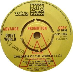 Quiet World - Children Of The World CD (album) cover