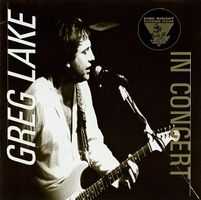 GREG LAKE - In Concert On The King Biscuit Flower Hour CD album cover