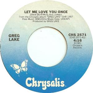 Greg Lake - Let Me Love You Once CD (album) cover