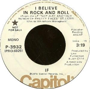 If - I Believe In Rock And Roll CD (album) cover
