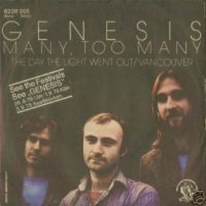 GENESIS - Many Too Many CD album cover
