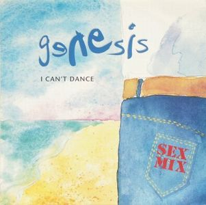 GENESIS - I Can't Dance 12'' CD album cover