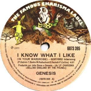 Genesis - I Know What I Like (in Your Wardrobe) / Carpet Crawl CD (album) cover