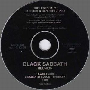BLACK SABBATH - Reunion CD album cover