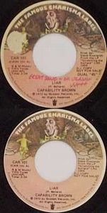 Capability Brown - Liar/ Keep Death Off The Road 45rpm CD (album) cover