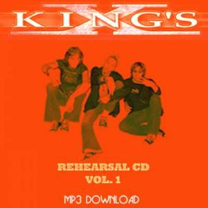 King's X - Rehearsal Cd Vol. 1 CD (album) cover