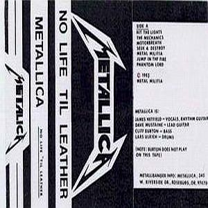 Metallica - No Life 'til Leather Demo CD (album) cover