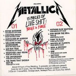 Metallica - 15 Pieces Of Live Shit Promo CD (album) cover