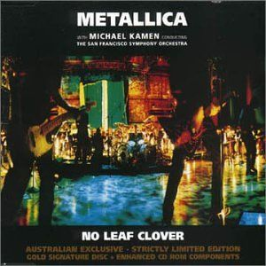 Metallica - No Leaf Clover CD (album) cover