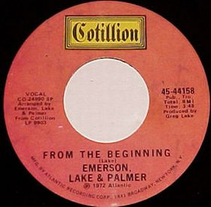ELP (EMERSON LAKE & PALMER) - From The Beginning CD album cover