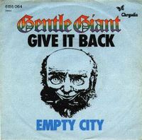 Gentle Giant - Give It Back CD (album) cover
