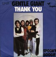 Gentle Giant - Thank You (edit) CD (album) cover