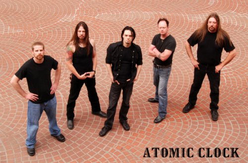 ATOMIC CLOCK image groupe band picture