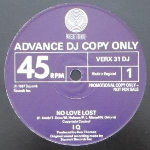 Iq - No Love Lost CD (album) cover