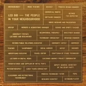 Led Bib - The People In Your Neighbourhood CD (album) cover