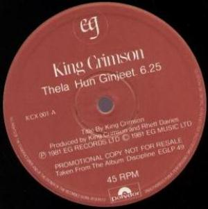 King Crimson - Thela Hun Ginjeet CD (album) cover