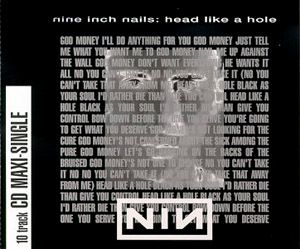 Nine Inch Nails - Head Like A Hole CD (album) cover