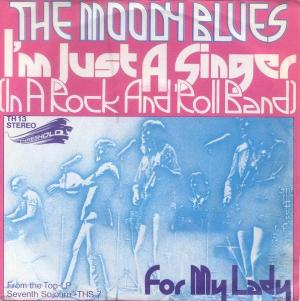 THE MOODY BLUES - I'm Just A Singer (in A Rock And Roll Band) CD album cover