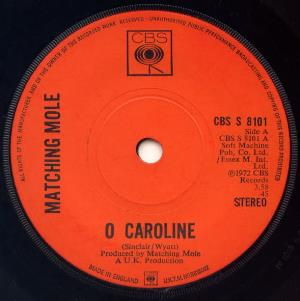 Matching Mole O Caroline CD album cover