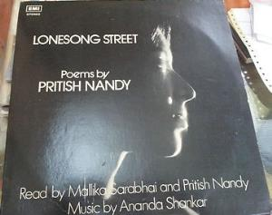 Ananda Shankar - Ananda Shankar And Pritish Nandy: Lonesong Street CD (album) cover