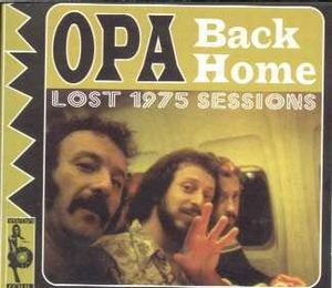 Opa - Back Home - The Lost 1975 Sessions CD (album) cover