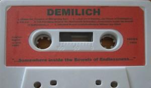DEMILICH - ...somewhere Inside The Bowels Of Endlessness... CD album cover