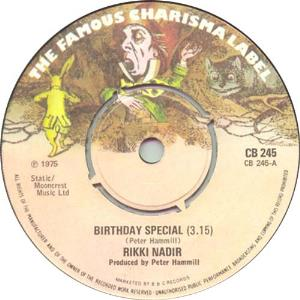 Peter Hammill - Birthday Special / Shingle Song CD (album) cover