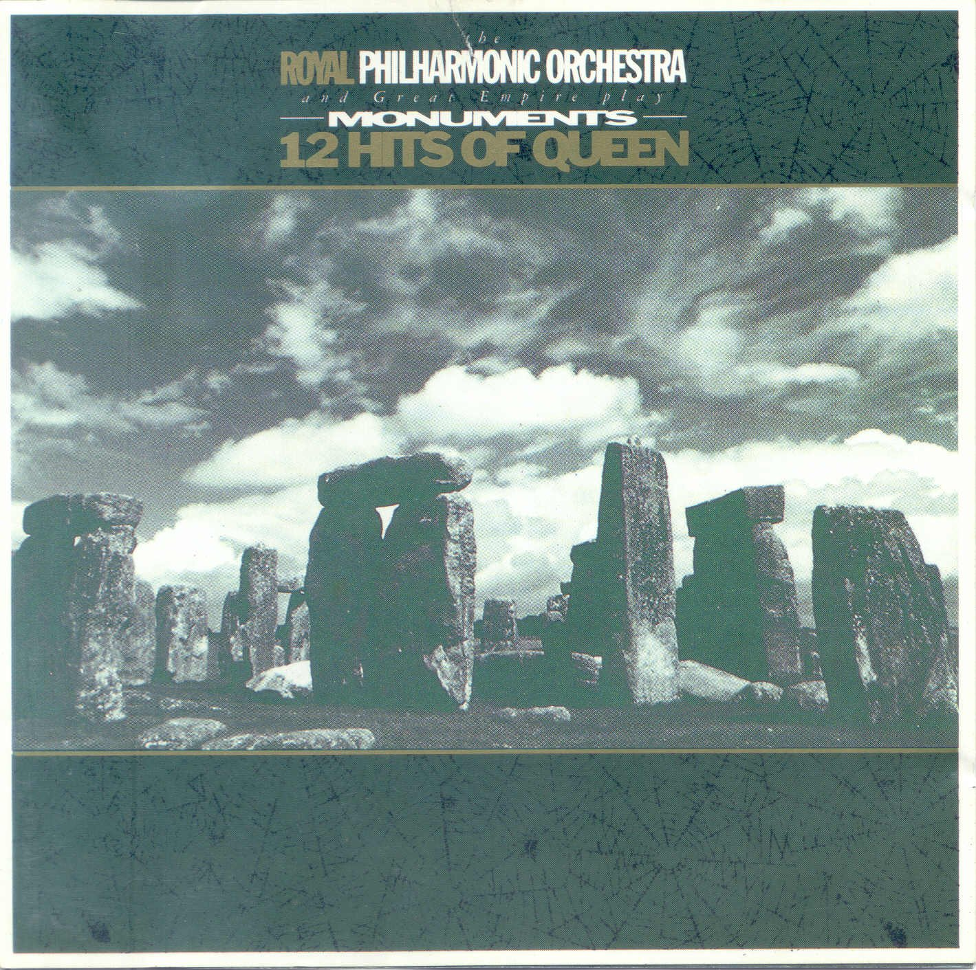 Various Artists - The Royal Philarmonic Orchestra And Great Empire Play Monument - 12 Hits Of Queen CD (album) cover