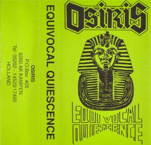 Osiris - Equivocal Quiescence CD (album) cover
