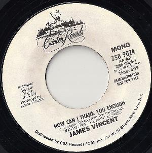James Vincent - How Can I Thank You Enough CD (album) cover