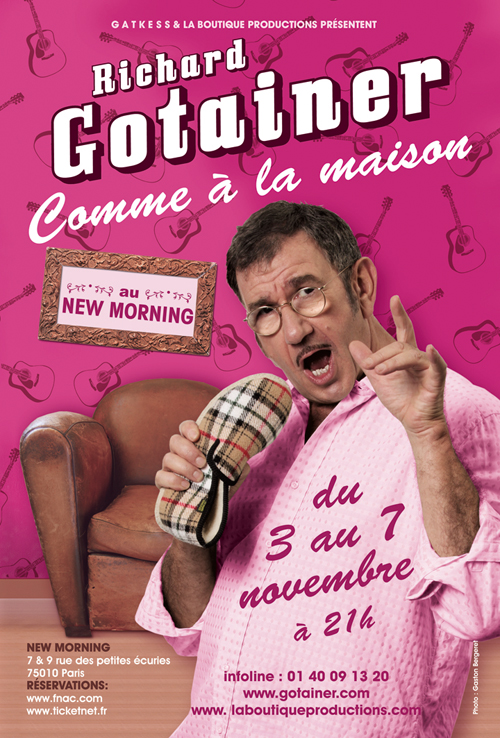 RICHARD GOTAINER - Comme à La Maison CD (album) cover